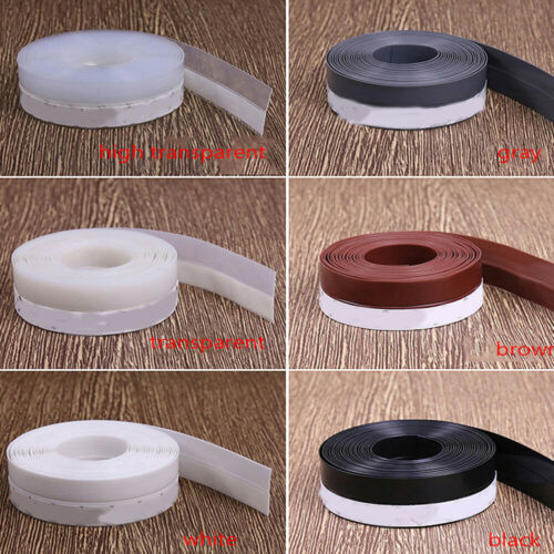 Door Seal Strip Sticker Draught Excluder Tape Windows Insulation Weather Stopper