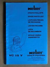 Ersatzteilliste Weber VC 15 Y Verdichter Rüttelplatte Spare Parts List Listino