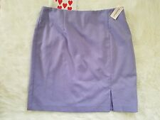 NWT Dress Barn Women's A Line Skirt Lavender 14 Front Slit Polyester Rayon Lined