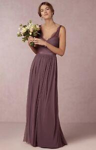 2f8a245b48e NEW  250 BHLDN Hitherto Fleur Dress In Purple Bridesmaids Size 4