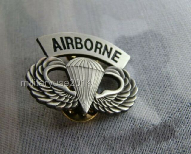 US ARMY AIRBORNE PARATROOPER PARACHUTIST WINGS PIN METAL BADGE