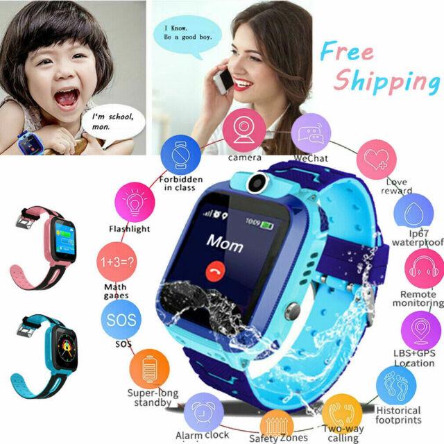 Anti-lost Child Kids Smart Watch Phone Fitness GPS Tracker Location SOS  Call SIM