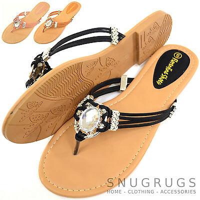 Señoras para mujer de verano/Vacaciones// Playa Diamante Sandalias/Zapatos/Flip Flops