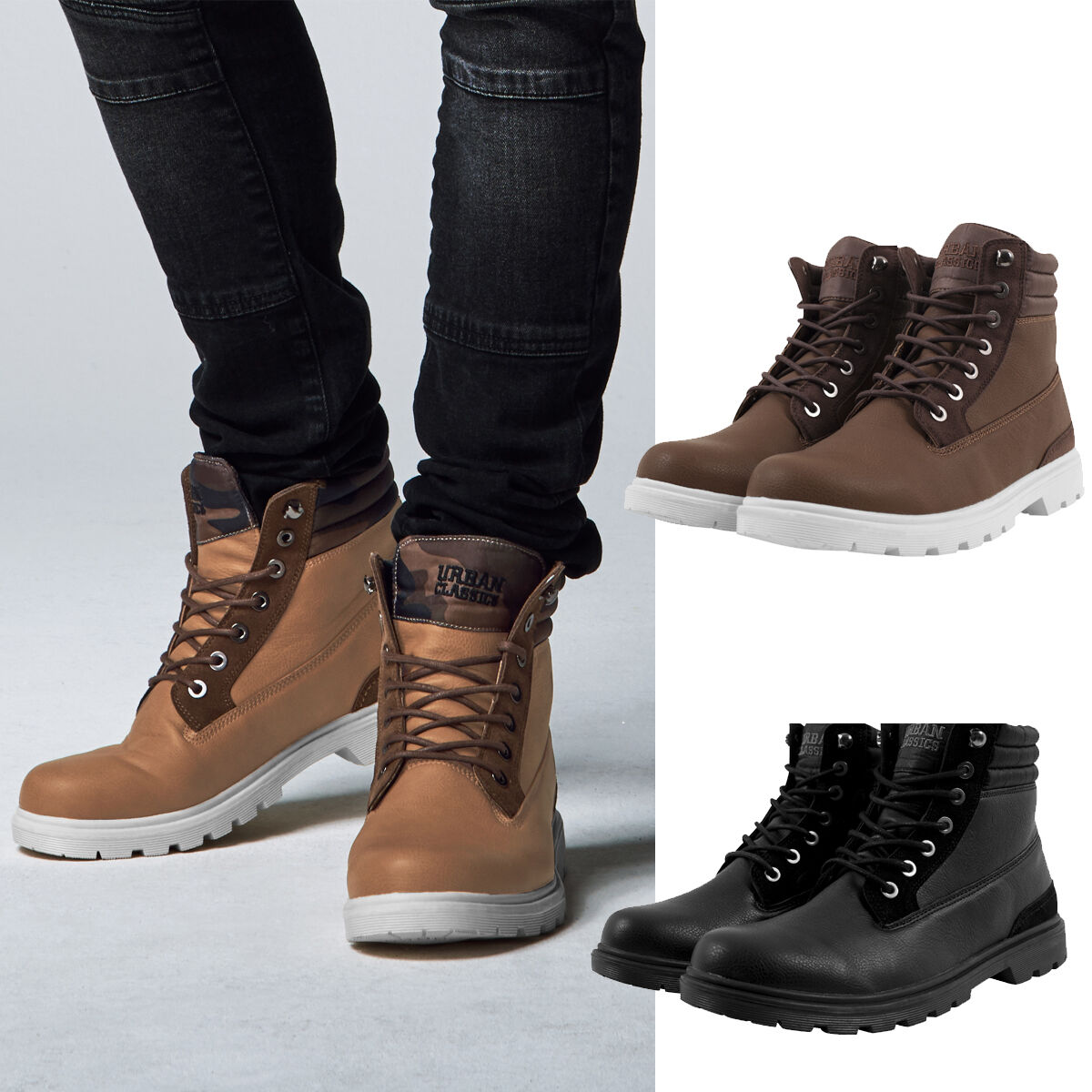 Urban Classics Winter Boots Outdoor Ankle Boots Hiking Winter Boots
