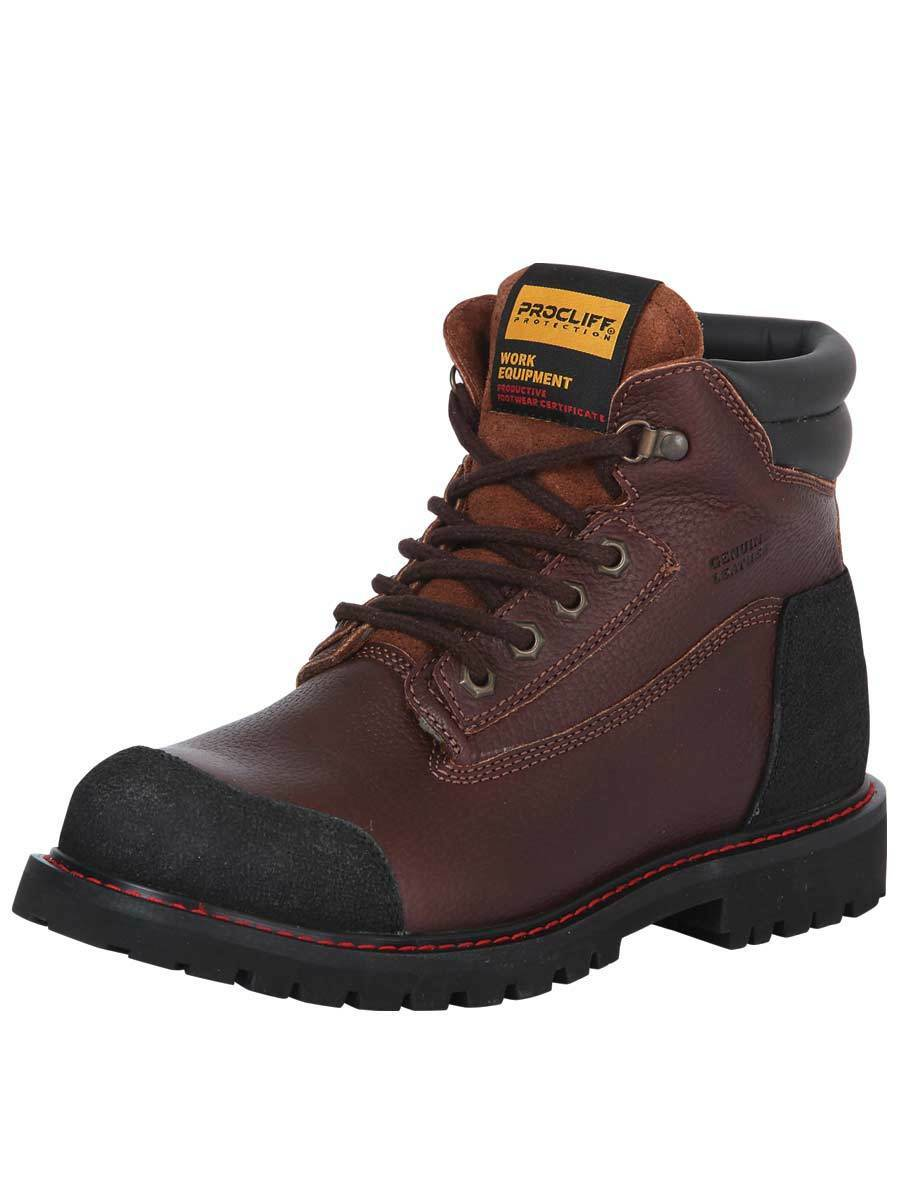 Botin Trabajo C/C Protection Agujetas Procliff Protection C/C Flother Cuero Walnut ID 35217 1d5569