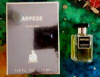 Vintage Arpege Perfume Lanvin 1/3 Oz 10 Ml Miniature Extract Box Made In France