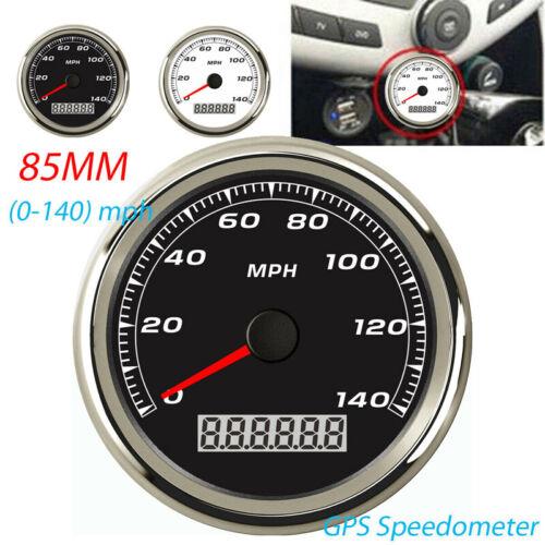 85mm Waterproof Digital Stainless GPS Speedometer Gauge for Car Truck 140MPH UK