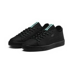 Puma-Basket-Diamond-Black-Sneakers-Street-Mens-US-10-5-BNIB-UK-9-5-EUR-44-NEW