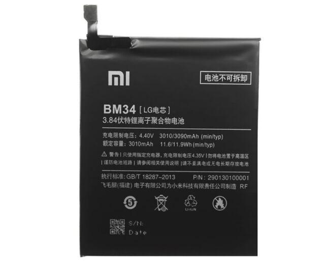 Original Xiaomi BM34 Batería para Xiaomi mi Note pro Batería Móvil 3090mAh
