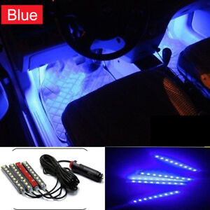 4x-9-LED-Charge-Car-Interior-Accessories-Foot-Car-Decorative-Light-Lamps-Blue-YX