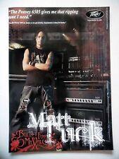 PUBLICITE-ADVERTISING :  Ampli PEAVEY 6505 2007Matt Tuck,Bullet For My Valentine