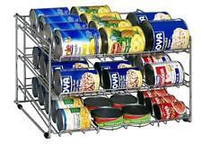 ORGANIZE-IT-ALL CAN ORGANIZER Pantry Shelf Holder Storage Cabinet Tin Aluminum