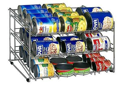 ORGANIZE-IT-ALL CAN ORGANIZER Pantry Shelf Holder Storage Cabinet Tin Aluminum