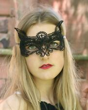 Black Lace Cat Masquerade Mask, Cat Woman, Fancy Dress, Carnival-Party-Fun-Sexy