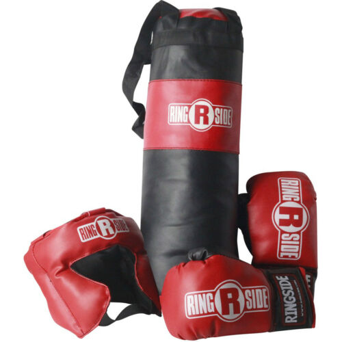 2-5 year old Gloves and Headgear Ringside Kids Boxing Set with Mini Heavy Bag