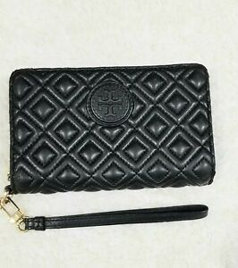 Tory-Burch-Marion-Quilted-Black-Leather-Zip-Wallet