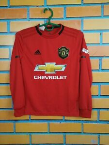 Manchester-United-Jersey-2019-Kids-Boys-9-10-y-Shirt-Long-sl-Adidas-DX8955