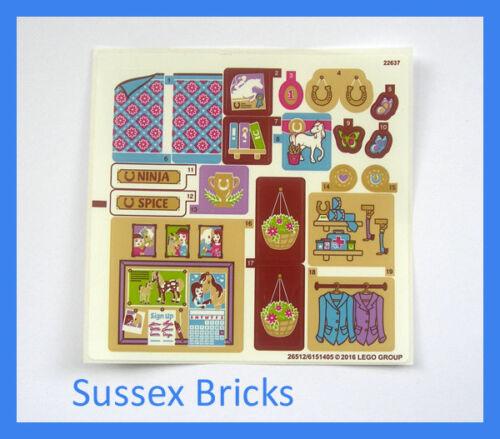 Lego Friends Original New Sticker Sheet Only set 41126 Heartlake Riding School