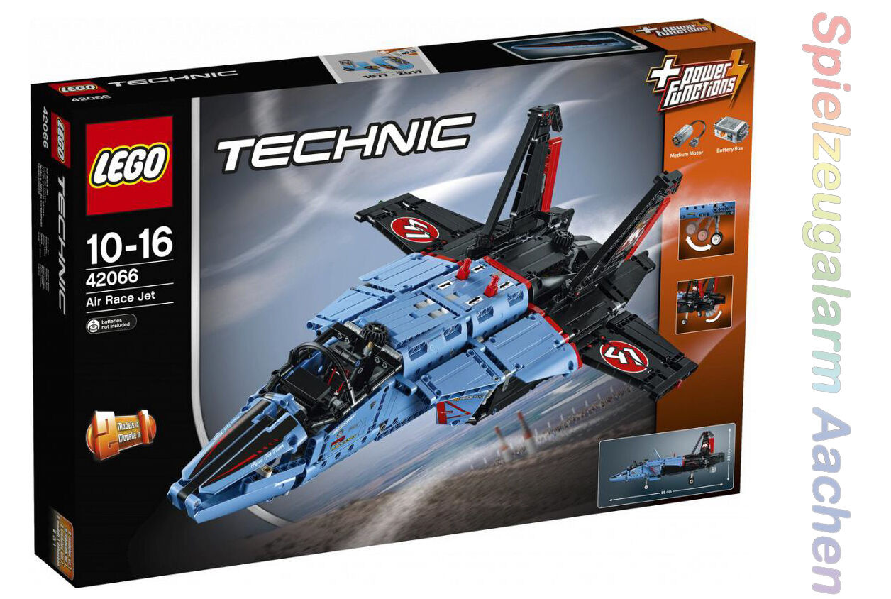 LEGO 42066 TECHNIC 2in1 Modell Air Race Jet Privatjet + Power Functions N3/17