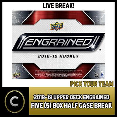BREAK #H300 HALF CASE PICK YOUR TEAM 2018-19 UPPER DECK ICE 5 BOX