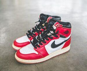 Bigote muelle violín  Nike Air Jordan 1 1994 último baile Vintage 85 6Y Chicago | eBay