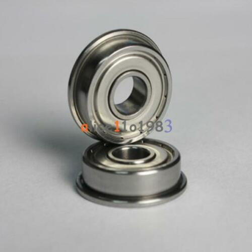 5PCS MF63zz Mini Metal Double Shielded Flanged Ball Bearings 3mmX6mmX2.5mm