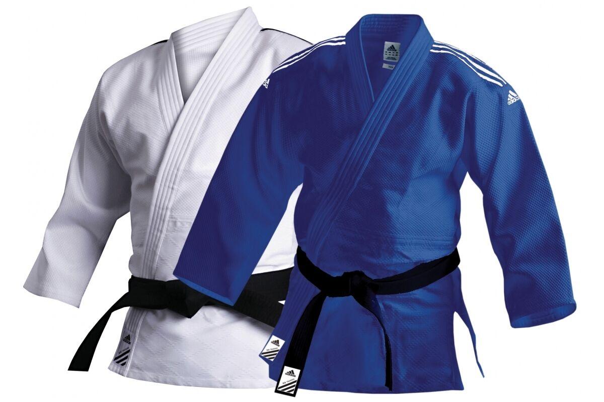 Adidas Judo Suit Training Uniform blueeeeeeeee White Adult 500g Judoka Gi Men Women Kids