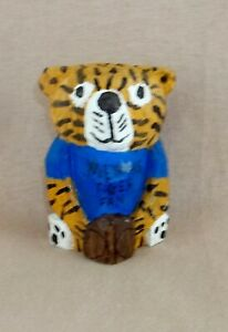 Blue Shirted Tiger Fans, Hand Carved from Basswood.