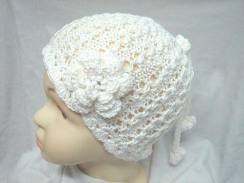 KU ca 47-50 cm 100/% Baumwolle Babymütze handgestrickt