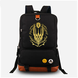 b7cb08a9a5f8 The Lord of the Rings backpack Shoulder School Messenger black Bag ...