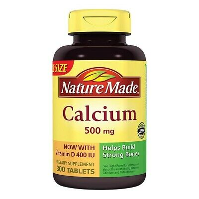 Nature Made Calcium 500 mg Dietary Supplement Tablets 300 ...