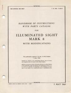 Original Period Items Books 1945 AAF BELL & HOWELL N-9 GUN SIGHT ...