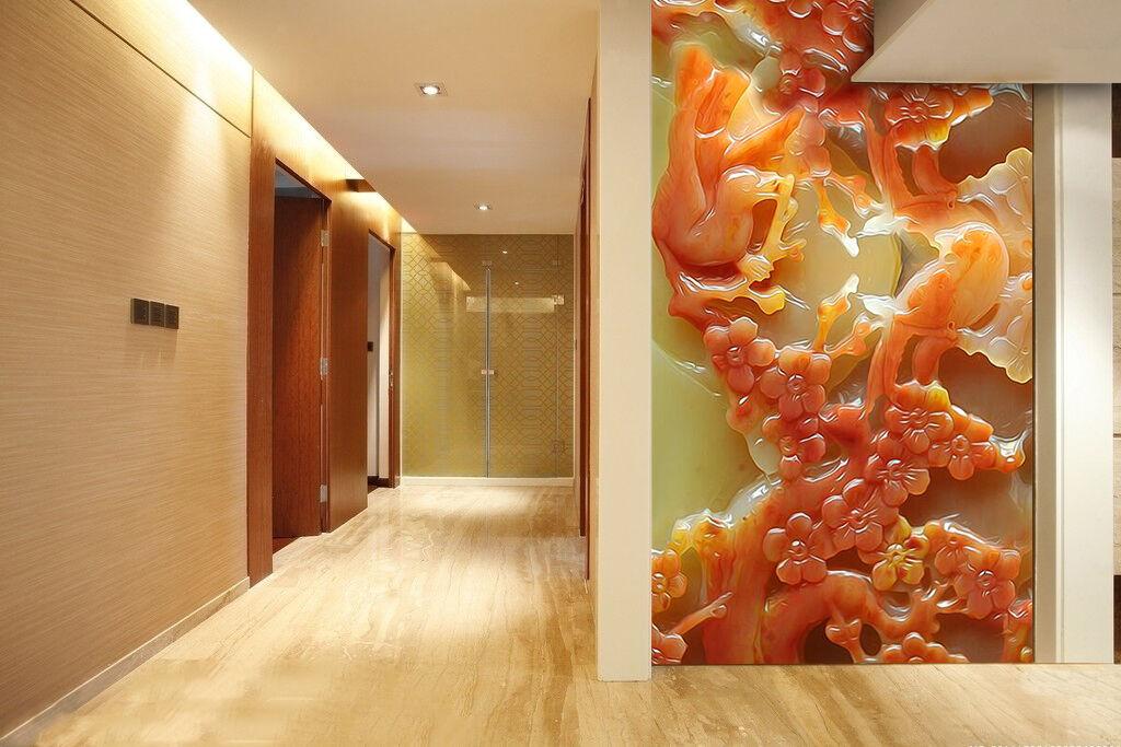 3D Jade Cèdre 661 Photo Papier Peint en Autocollant Murale Plafond Chambre Art