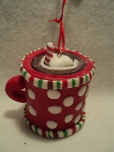 Kurt-S-Adler-034-CLAYDOUGH-HOT-COCOA-CUP-034-Ornament-RED-034