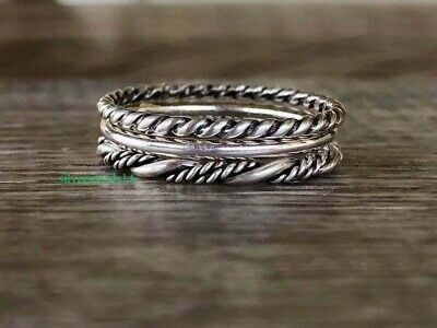 Written FEARLESS 925 Sterling Silver Ring Band Ring Jewelry cb9256
