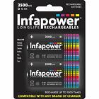 2 X Infapower B006 Rechargeable D Ni-mh Batteries 2500mah