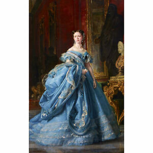 Palmaroli-Portrait-Infanta-Isabel-De-Borbon-Painting-Large-Canvas-Art-Print