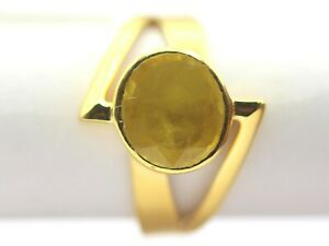 3.4 grams 18 K Yellow Gold Jewelry for Christmas Present 3.29 ct Sapphire Ring