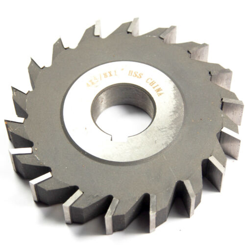 """Straight Side Milling Cutter 4/"""" x 5//8/"""" x 1/"""" Arbor HSS 24T 301-4404"""