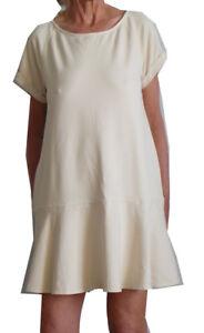 NEW-FREE-PEOPLE-DROP-HEM-RUFFLE-DRESS-S-4-8-130-WOMEN-IVORY-CREAM-SWEATSHIRT