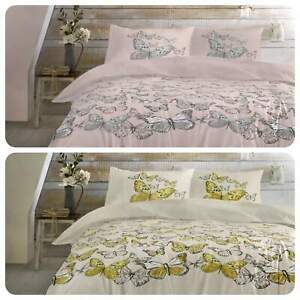 Dreams-amp-Drapes-MARIPOSA-Butterfly-Floral-Easy-Care-Duvet-Cover-Set