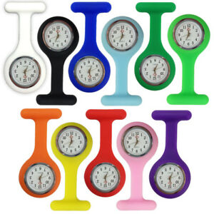Silicone-Nurse-Brooch-Tunic-Fob-Watch-Nursing-Nurses-Pendant-Pocket-Watch