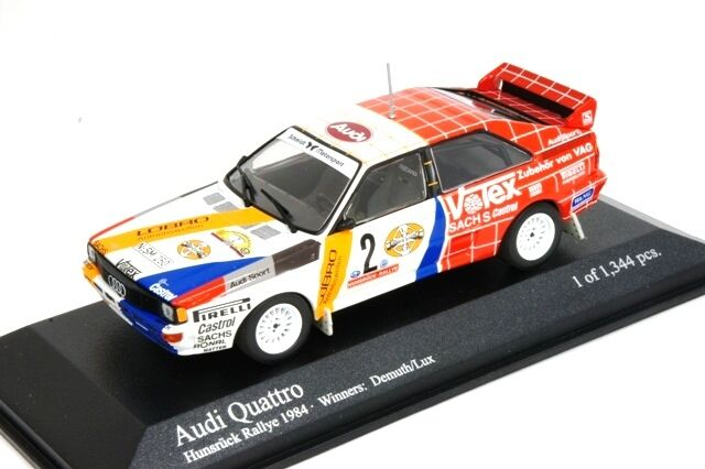 Audi Quattro Hunsruck Rally 1984 Winners Demuth Lux 1 43 430841991 Minichamps