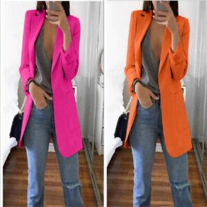 Women-Formal-Slim-Outwear-Jacket-Top-Coat-Career-Long-Sleeve-Blazer-Casual