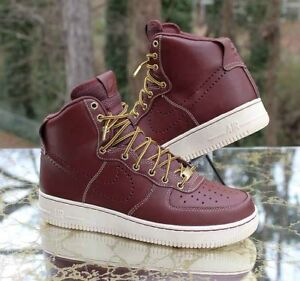 Nike Air Force 1 High  07 LV8 Work Boot 882096-600 Red Brown Men s ... 02cba0d0d