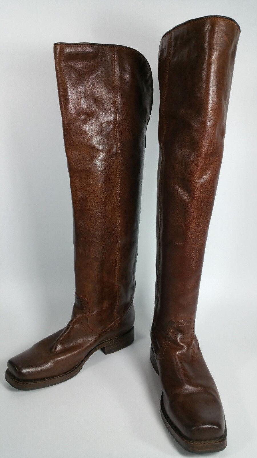 controlla il più economico FRYE Marrone Marrone Marrone LEATHER SQUARE TOE VERY TALL RIDING stivali  77238 donna 7.5 B  moda classica