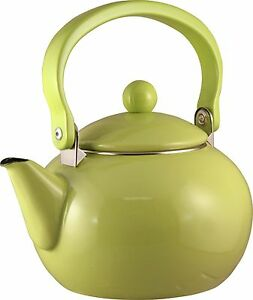 Lime Reston Lloyd 2 quart Harvest Tea Kettle Enamel on Steel 30901 Green New