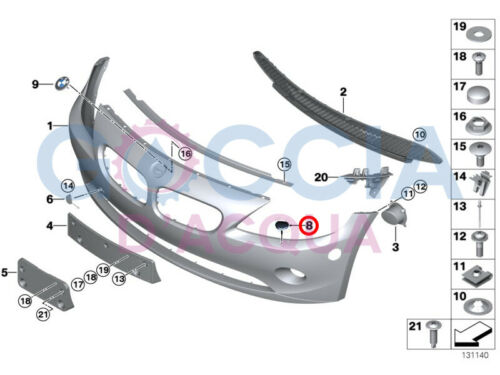 GENUINE BMW Z4 E85 E86 pare-chocs avant buse de pulvérisation phare Gicleur lave-glace couverture Gauche