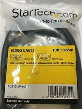StarTech MXT101MMHQ10 10 ft Coax High Resolution VGA Monitor Cable HD15 M//M
