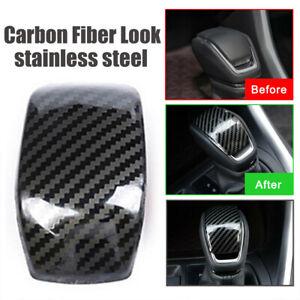 Carbon-Fiber-Style-Car-Gear-Shift-Knob-Cover-Trim-For-Toyota-RAV4-2019-2020